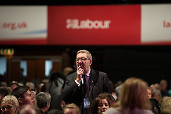 © Licensed to London News Pictures . 27/09/2015 . Brighton , UK . General Secretary of Unite Union , LEN McCLUSKEY at the 2015 Labour Party Conference . Photo credit : Joel Goodman/LNP