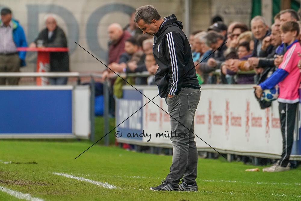 19.10.2019; Wohlen; Fussball 1.Liga - FC Wohlen - Zug 94;<br /> Trainer Thomas Jent (Wohlen) <br /> (Andy Mueller/freshfocus)