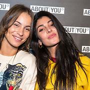 NLD/Amsterdam/20171009 - opening webshop About You, Lizzy van der Ligt en Anna Nooshin