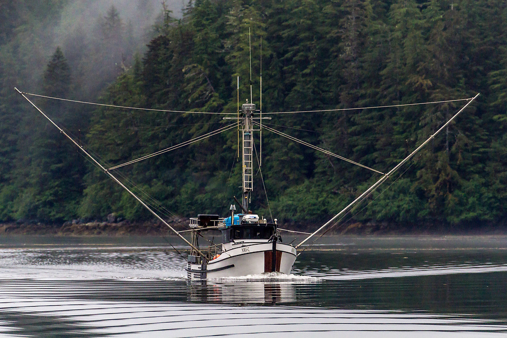 One of the beautiful wooden trollers of southeast Alaska.