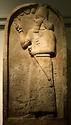 Gypsum stele of the Assyrian king Ashurnasirpal II (883-859BC) From his capital city of Nimrud (now in Iraq) 9th Century BC