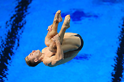 England's Jack Haslam competes in the Men's 1m Springboard Final at the Optus Aquatic Centre during day seven of the 2018 Commonwealth Games in the Gold Coast, Australia.