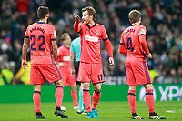 Real Sociedad's Raul Navas, David Zurutuza and Asier Illarramendi have words during La Liga match. February 10,2017. (ALTERPHOTOS/Acero)