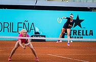 Barbora Krejcikova and Katerina Siniakova of the Czech Republic playing doubles at the Mutua Madrid Open 2021, Masters 1000 tennis tournament on May 4, 2021 at La Caja Magica in Madrid, Spain - Photo Rob Prange / Spain ProSportsImages / DPPI / ProSportsImages / DPPI