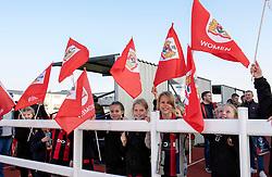 Mascots at Stoke Gifford Stadium for Bristol City Women v Liverpool FC Women - Mandatory by-line: Paul Knight/JMP - 17/11/2018 - FOOTBALL - Stoke Gifford Stadium - Bristol, England - Bristol City Women v Liverpool Women - FA Women's Super League 1