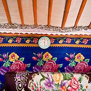 Mongolia. inside a yurt on the road to Hakhorin   -   /  interieur de Yourte, sur la route de Karakorum   - Mongolie