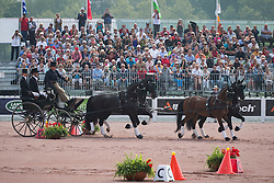 Boyd Exell, (AUS), Capone II, Curios, Rambo 395, Spitfire, Winston - Driving Cones - Alltech FEI World Equestrian Games™ 2014 - Normandy, France.<br /> © Hippo Foto Team - Dirk Caremans<br /> 07/09/14