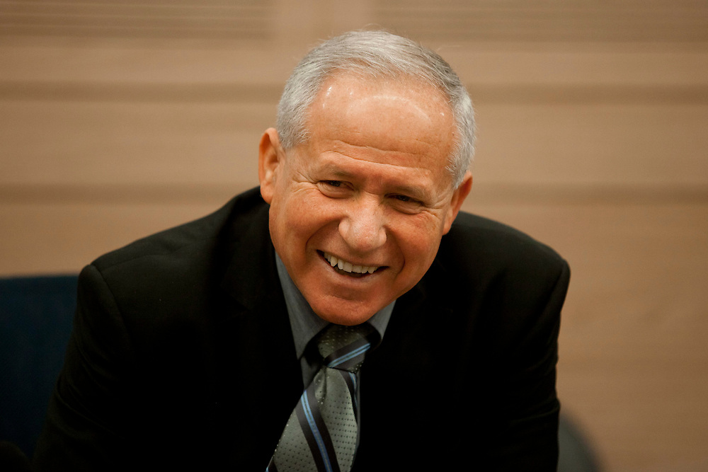 Israeli lawmaker, Knesset Member Avi Dichter attends a session of the Foreign Affairs and Defense Committee at the Knesset, Israel's parliament in Jerusalem, on February 27, 2012.
