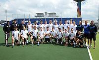 DEN HAAG - .Mannen Nieuw Zeeland met staff. World Cup Hockey 2014. COPYRIGHT KOEN SUYK