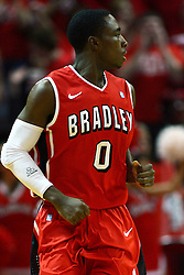 04 February 2012: Charonn Woods  during an NCAA Missouri Valley Conference mens basketball game where the Bradley Braves lost to the Illinois State Redbirds 78 - 48 in Redbird Arena, Normal IL