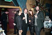 Rosey Chan; Lara Bohinc; Mike Figgis, Criterion Restaurant  celebrates its 135th anniversary. Piccadilly Circus. London. 2 February 2010