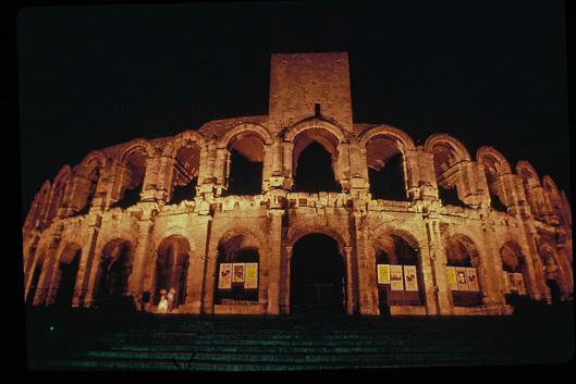 Coliseum of Arles at night
