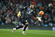 Aston Villa goalkeeper Mark Bunn in action. Barclays Premier league match, Aston Villa v Leicester city at Villa Park in Birmingham, The Midlands on Saturday 16th January 2016.<br /> pic by Andrew Orchard, Andrew Orchard sports photography.