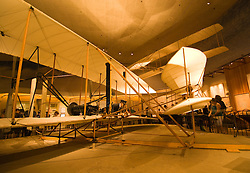 Washington DC; USA: National Air and Space Museum. Wright Brothers airplane Flyer, first recorded flight, Kitty Hawk..Photo copyright Lee Foster Photo # 10-washdc82436