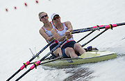 Poznan. Poland. GBR W2X, Bow: Victoria THORNLEY and Katherine GRAINGER, Start of their Heat at the FISA 2015 European Rowing Championships. Venue Lake Malta. 29.05.2015. [Mandatory Credit: Peter Spurrier/Intersport-images.com] .   Empacher.