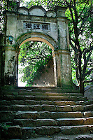 The ancient village of Yangmei is approximately 30 kilometres from the provincial capital of Nanning.  Ancient gateway leading to Qing Dyansty Street in Yangmei.