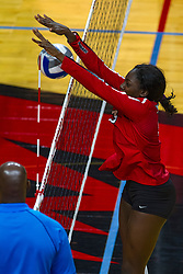 BLOOMINGTON, IL - September 28: Emmy Ogogor<br />  during a college Women's volleyball match between the ISU Redbirds and the Southern Illinois Salukis on September 28 2019 at Illinois State University in Normal, IL. (Photo by Alan Look)