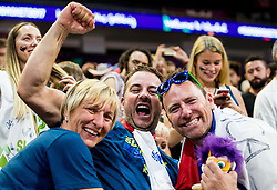 Fans of Slovenia celebrate after winning during basketball match between National Teams of Slovenia and Spain at Day 15 in Semifinal of the FIBA EuroBasket 2017 at Sinan Erdem Dome in Istanbul, Turkey on September 14, 2017. Photo by Vid Ponikvar / Sportida