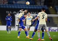 Football - 2020 / 2021 Europa League - Group G - Leicester City vs AEK Athens - King Power Stadium<br /> <br /> AEK Athens' Andre Simoes battles for possession with Leicester City's Dennis Praet.<br /> <br /> COLORSPORT/ASHLEY WESTERN