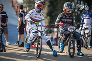 #1 (VAN GENDT Twan) NED and #959 (SCHOTMAN Mitchel) NED during practice at Round 9 of the 2019 UCI BMX Supercross World Cup in Santiago del Estero, Argentina