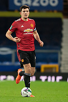 Football - 2020 / 2021 League Cup - Quarter-Final - Everton vs Manchester United - Goodison Park<br /> <br /> Manchester United's Harry Maguire in action during todays match  <br /> <br /> COLORSPORT/TERRY DONNELLY