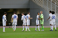 ATHENS, GREECE - OCTOBER 29: Leicester City players prior to the UEFA Europa League Group G stage match between AEK Athens and Leicester City at Athens Olympic Stadium on October 29, 2020 in Athens, Greece. (Photo by MB Media)