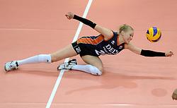 27-09-2014 ITA: World Championship Volleyball Rusland - Nederland, Verona<br /> Nederland verliest met 3-1 van Rusland / Quirine Oosterveld