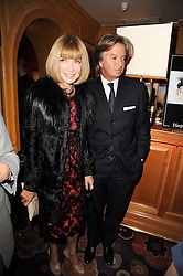 ANNA WINTOUR and RICHARD CARING at a party to celebrate the publication of Blow by Blow - The Story of Isabella Blow by Detmar Blow and Tom Sykes held at Annabel's, Berkeley Square, London on 21st September 2010.