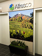 Wall Mural installation in elevator lobby at Alfresco corporate offices.
