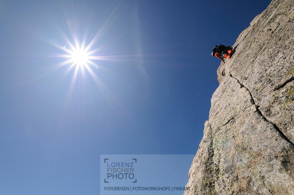 Impressionen bei einer Klettertour am Bergseeschijen an der Via Esther