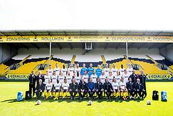 September 12, 2017 - Lokeren, BELGIUM - (upper row L-R), Lokeren's Marko Miric, Lokeren's Lewis Enoh, Lokeren's Sammy Kehli, Lokeren's Mijat Maric, Lokeren's goalkeeper Dieter Creemers, Lokeren's goalkeeper Davino Verhulst, Lokeren's goalkeeper coach Erwin Lemmens, Lokeren's Ortwin De Wolf, Lokeren's Bo Geens, Lokeren's Killian Overmeire, Lokeren's Tom de Sutter, Lokeren's Khadim Rassoul Joher, Lokeren's Jakov Filipovic, (middle row L-R), Lokeren's Bob Straetman, Lokeren's Stefano Marzo, Lokeren's Guus Hupperts, Lokeren's Robin Soder, Lokeren's Luciano Slagveer, Lokeren's Gary Martin, Lokeren's Mehdi Terki, Lokeren's Steve De Ridder, Lokeren's Arno Monsecour, Lokeren's Koen Persoons, Lokeren's Joran Triest, (lower row L-R), Lokeren's Amine Benchaib, Lokeren's Ari Freyr Skulason, Lokeren's Bibuangul Tracy Mpati, Lokeren's head coach Peter Maes, Lokeren's Juan Pablo Torres and Lokeren's Mohamed Ofkir pose for the photographer during the 2017-2018 season photo shoot of Belgian first league soccer team Sporting Lokeren, Tuesday 12 September 2017 in Lokeren. BELGA PHOTO JASPER JACOBS (Credit Image: © Jasper Jacobs/Belga via ZUMA Press)
