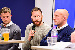 Bristol Rovers host the 'Feeling Blue? and White?' event in the Thatchers Bar at the Memorial Stadium with former players Lee Mansell and Ryan Clarke, current players Stuart Sinclair, Kyle Bennett and Adam Tutton from the Community Trust as well as mental health professional Jacob Kelly - Ryan Hiscott/JMP - 14/11/2018 - SPORT - Memorial Stadium - Bristol, England - Feeling Blue? And White? Event