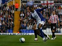 Photo: Steve Bond.<br />Birmingham City v Sunderland. The FA Barclays Premiership. 15/08/2007. Olivier Kapo attacks