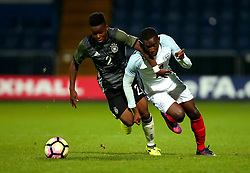 Edward Nketiah of England goes past Alfons Amade of Germany Under 19s - Mandatory by-line: Robbie Stephenson/JMP - 05/09/2017 - FOOTBALL - One Call Stadium - Mansfield, United Kingdom - England U19 v Germany U19 - International Friendly
