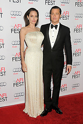 """File Photo: 5 November 2015 - Hollywood, California - Angelina Jolie Pitt, Brad Pitt. AFI FEST 2015 - """"By The Sea"""" Premiere held at the TCL Chinese Theatre. Photo Credit: Byron Purvis/AdMedia"""