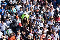 © Licensed to London News Pictures. 03/07/2018. London, UK. Spectators are led into the grounds by security guards at the Wimbledon Tennis Championships 2018. Photo credit: Ray Tang/LNP