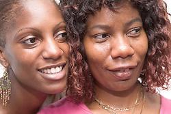 Portrait of two woman,