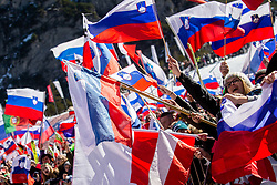 Supporters of Slovenia during the Ski Flying Hill Team Competition at Day 3 of FIS Ski Jumping World Cup Final 2019, on March 23, 2019 in Planica, Slovenia. Photo by Vid Ponikvar / Sportida