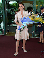 The Duke and Duchess of Cambridge arrive at Singapore Airport, Singapore, on the first day of their Diamond Jubilee Tour of South East Asia, on the 12th September 2012<br /> <br /> PICTURE BY JAMES WHATLING
