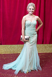 © Licensed to London News Pictures . 16/05/2015 .  The Palace Hotel , Manchester , UK . LUCY FALLON . The red carpet at the 2015 British Soap Awards , The Palace Hotel , Oxford Road , Manchester . Photo credit : Joel Goodman/LNP
