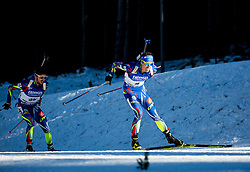 Jean Guillaume Beatrix (FRA) and Quentin Fillon Maillet (FRA)  during Men 15 km Mass Start at day 4 of IBU Biathlon World Cup 2015/16 Pokljuka, on December 20, 2015 in Rudno polje, Pokljuka, Slovenia. Photo by Vid Ponikvar / Sportida
