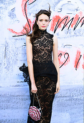Stacy Martin attending the Serpentine Summer Party 2018 held at the Serpentine Galleries Pavilion, Kensington Gardens, London.