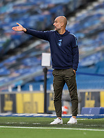 Manchester City manager Pep Guardiola shouts instructions to his team from the technical area <br /> <br /> Photographer David Horton/CameraSport<br /> <br /> The Premier League - Brighton & Hove Albion v Manchester City - Saturday 11th July 2020 - The Amex Stadium - Brighton<br /> <br /> World Copyright © 2020 CameraSport. All rights reserved. 43 Linden Ave. Countesthorpe. Leicester. England. LE8 5PG - Tel: +44 (0) 116 277 4147 - admin@camerasport.com - www.camerasport.com