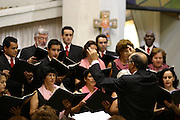 Belo Horizonte_MG, Brasil...Encontro de corais na Igreja da Assembleia...Meeting of choral in the Assembleia church...Foto: LEO DRUMOND / NITRO