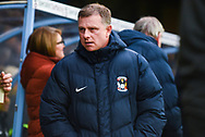 Mark Robins of Coventry City (Manager) before the EFL Sky Bet League 1 match between Scunthorpe United and Coventry City at Glanford Park, Scunthorpe, England on 5 January 2019.