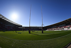 Photographer Mike Jones/Replay Images<br /> <br /> Guinness PRO14 Round 22 - Scarlets v Cheetahs - Saturday 5th May 2018 - Parc Y Scarlets - Llanelli<br /> <br /> World Copyright © Replay Images . All rights reserved. info@replayimages.co.uk - http://replayimages.co.uk