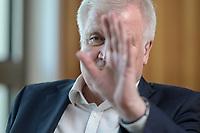 01 JUL 2019, BERLIN/GERMANY:<br /> Horst Seehofer, CSU, Bundesinnenminister, waehrend einem Interview, in seinem Buero, Bundesministerium des Inneren<br /> IMAGE: 20190701-01-060<br /> KEYWORDS: Büro
