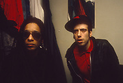 Don letts and Mick Jones Big Audio Dynamite London 1986