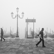 Venice Wakes Up Under Thick Fog