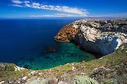 Cliffs and cove, Santa Cruz Island, Channel Islands National Park, California